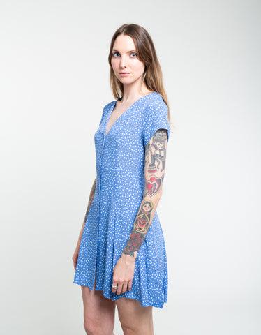 Rollas Milla Mini Tulip Dress French Blue