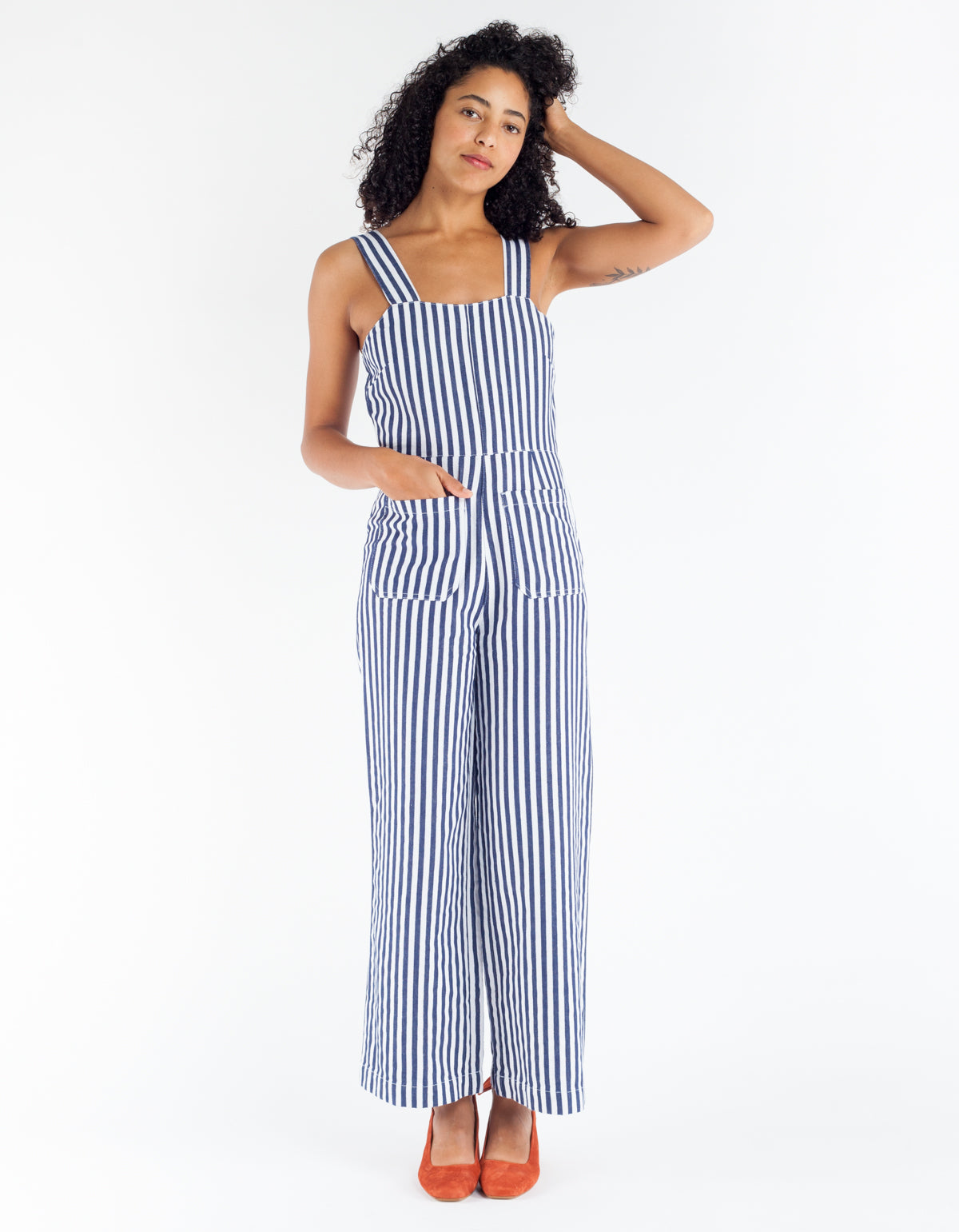 Rollas Sailor Jumpsuit Navy Stripe