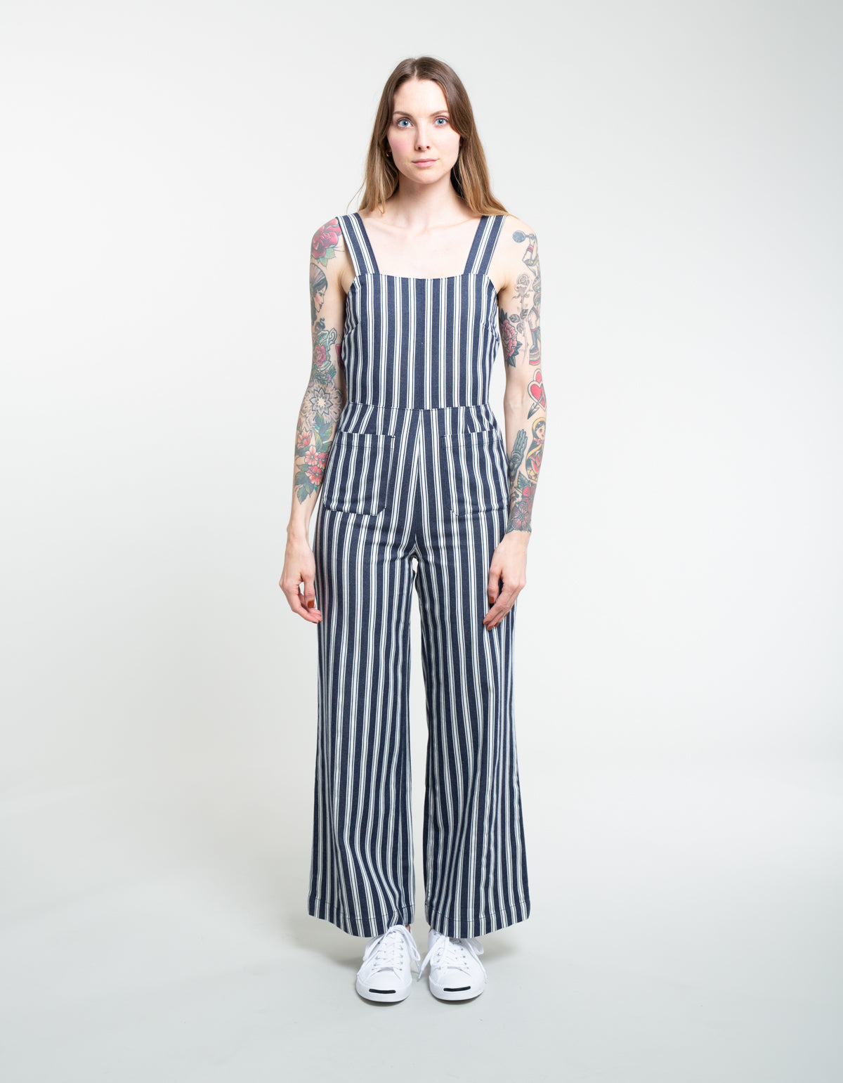 9a2c899b9775 Rollas Sailor Jumpsuit Salty Stripe Navy White – Still Life