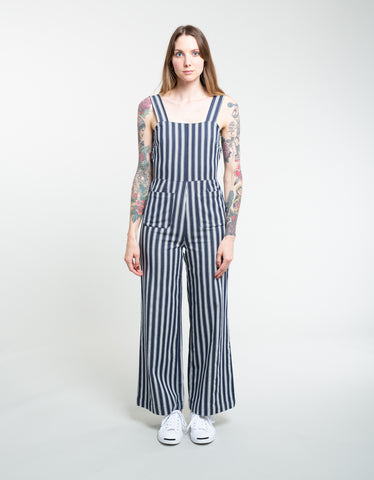 Rollas Sailor Jumpsuit Salty Stripe Navy White