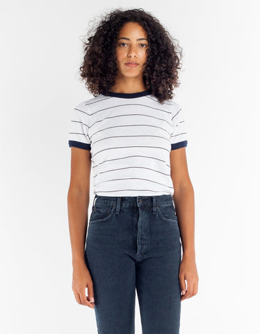 Rollas Sailor Miller Tee Faded Black Stripe