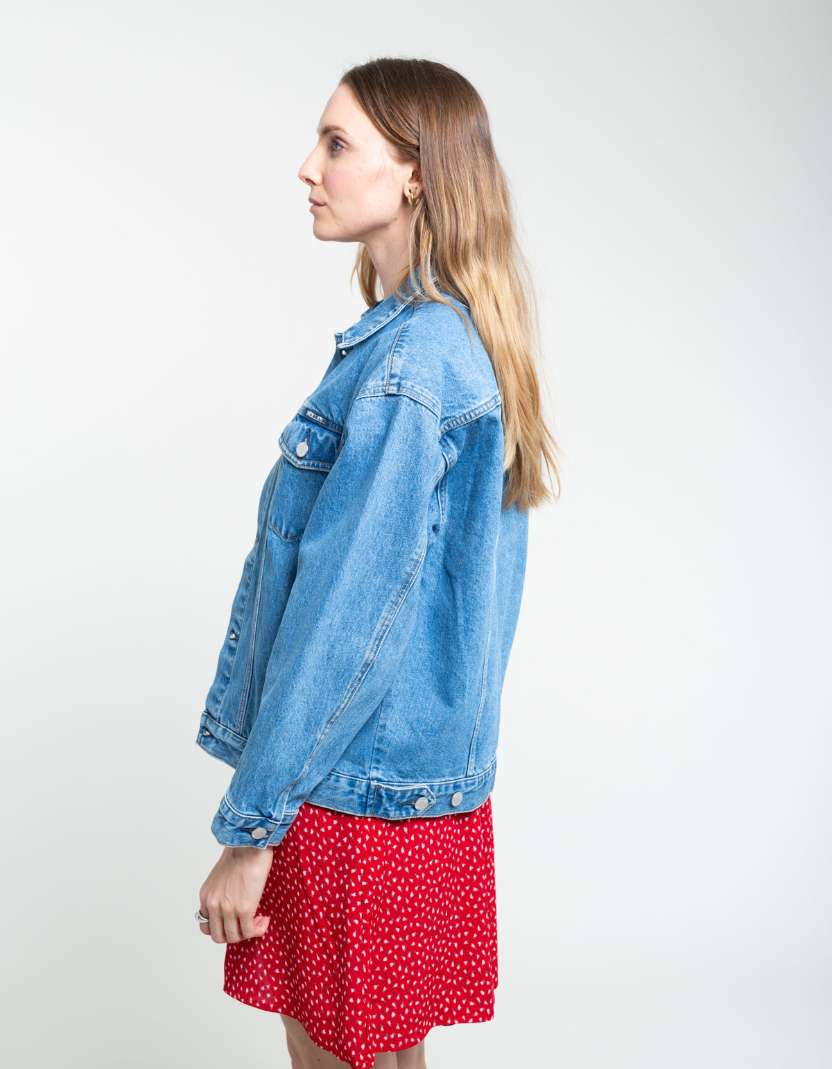 Rollas Slouch Jacket Esprit Blue