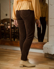 Rollas Cord Dusters Pant Brown