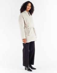 Selfhood Short Down Kimono Jacket Off White