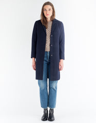 Selfhood Wool Coat Navy