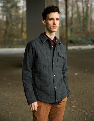 Portuguese Flannel Nevada Jacket Grey