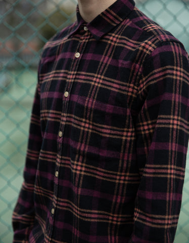 Portuguese Flannel Big Square Long Sleeve Shirt Plaid