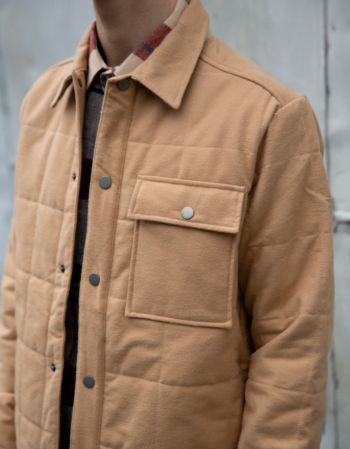 Portuguese Flannel Nevada Cotton Jacket Latte