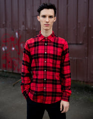 Portuguese Flannel Colorado Long Sleeve Shirt Red