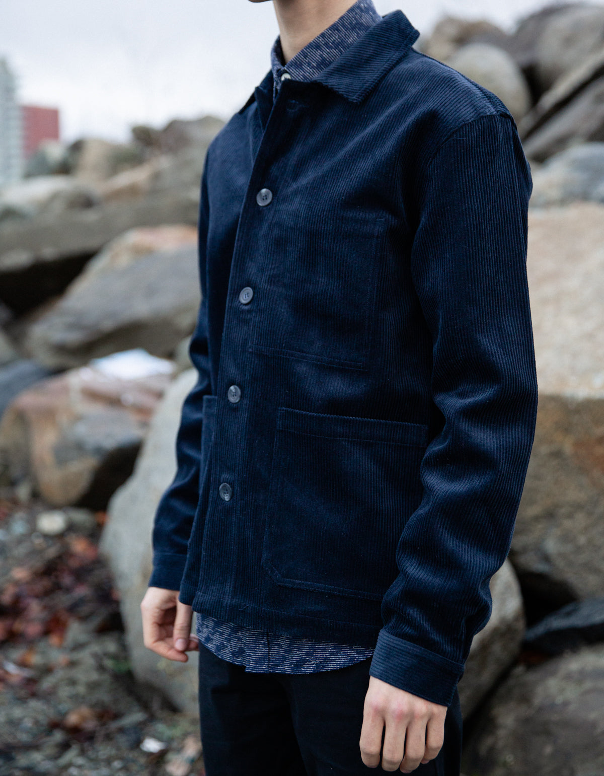 Minimum Oersted Jacket Navy Blazer