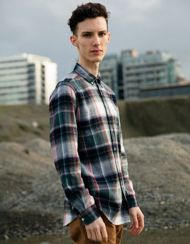 Portuguese Flannel Club Long Sleeve Shirt Plaid