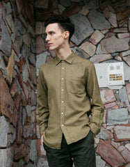 Portuguese Flannel Bush Long Sleeve Shirt Tan