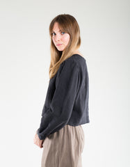 Shelter Gloria LS Top Black Linen
