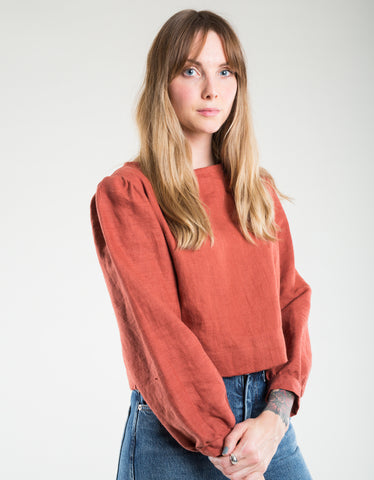 Shelter Gloria LS Top Sienna Linen