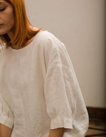 Shelter Anna Long Sleeve Top Ivory