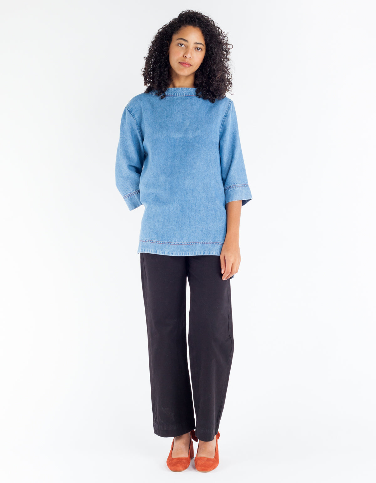 Sideline Nova Top Washed Denim