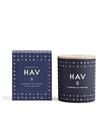 Skandinavisk HAV Sea Scented Candle Navy