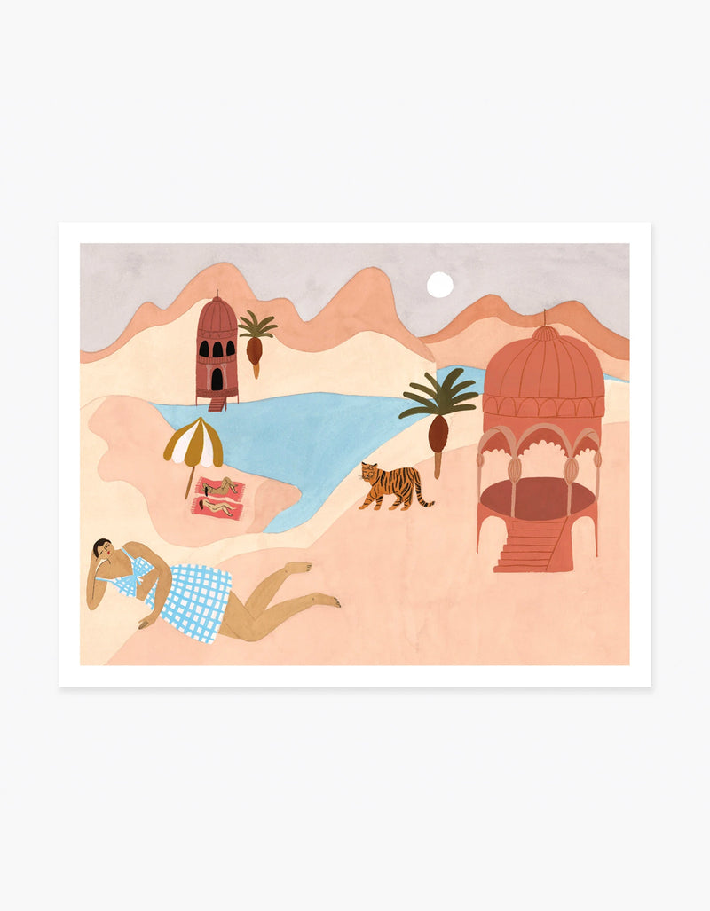 Slowdown Studio Quiet Beach Art Print by Isabelle Feliu