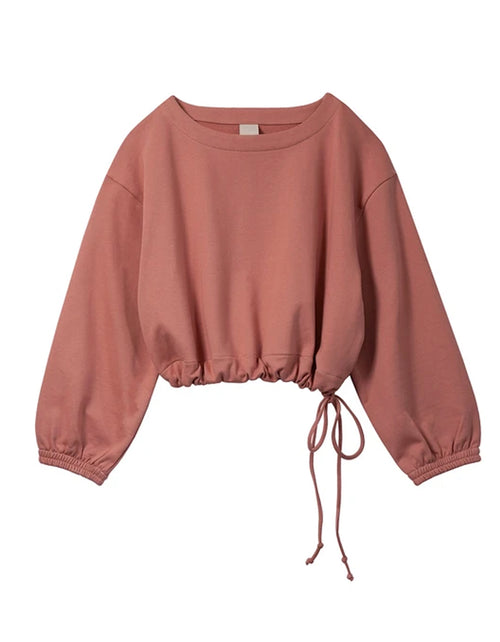 Soft Focus The Scrunch Sweatshirt in Baked Coral
