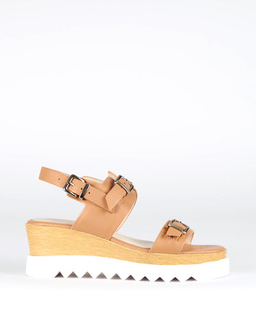 Sol Sana Gabrielle Wedge Tan - Still Life - 1