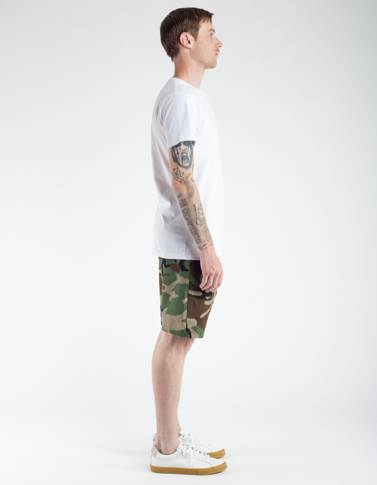 Stan Ray Ripstop 4 Pocket Short Woodland Camo
