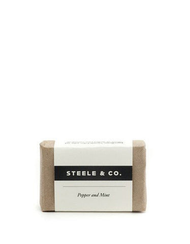 Steele & Co. Pepper and Mint Soap Bar - Still Life