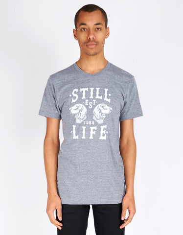 Still Life Dogs Tee Heather Grey - Still Life - 1