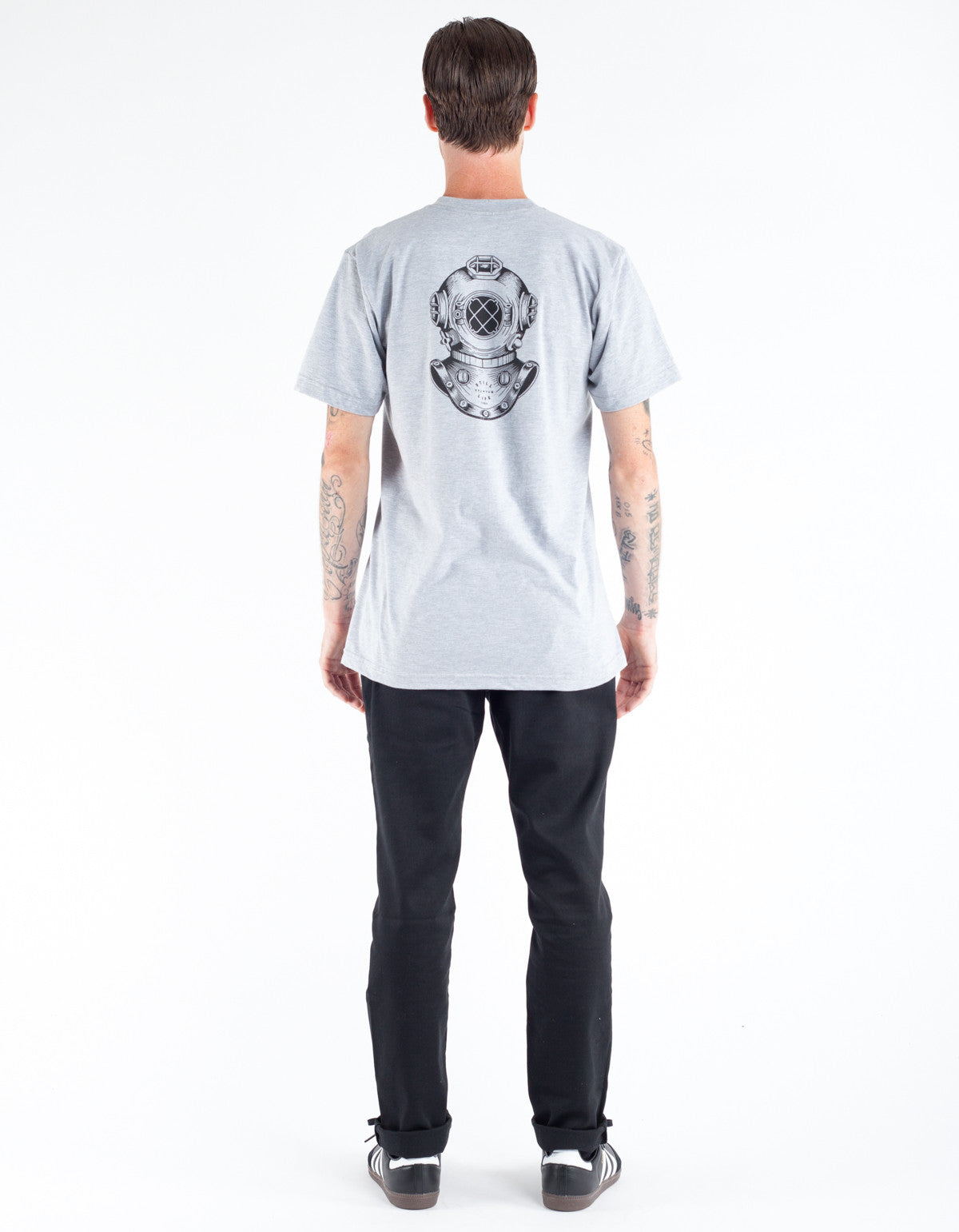 Still LIfe Diving Helment Tee Heather Grey