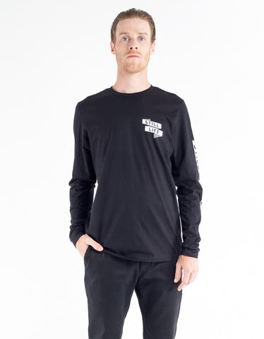 Still Life Folded LS Tee Black
