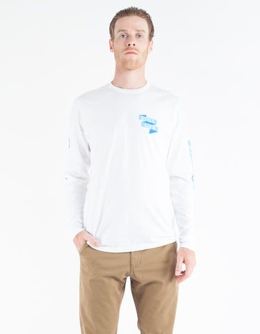 Still Life Folded LS Tee White