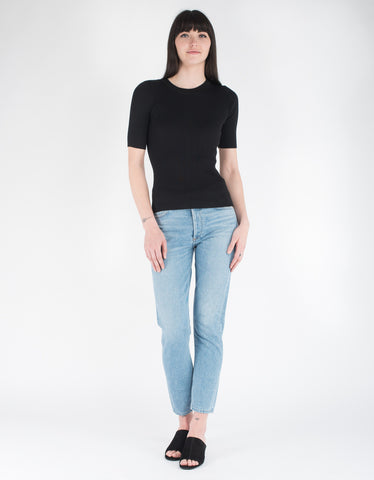 Storm & Marie Nap Rib Top Black