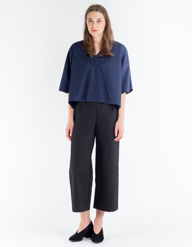 Sunja Link V-Neck Top Navy