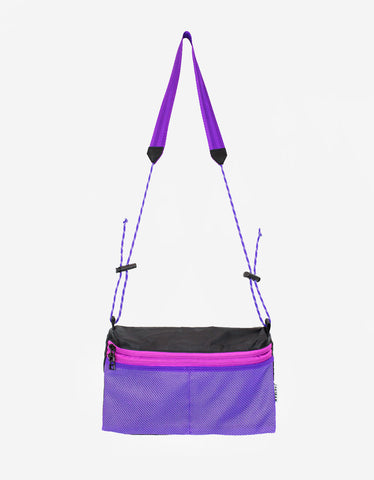 Taikan Large Sacoche Bag Black Purple Pink