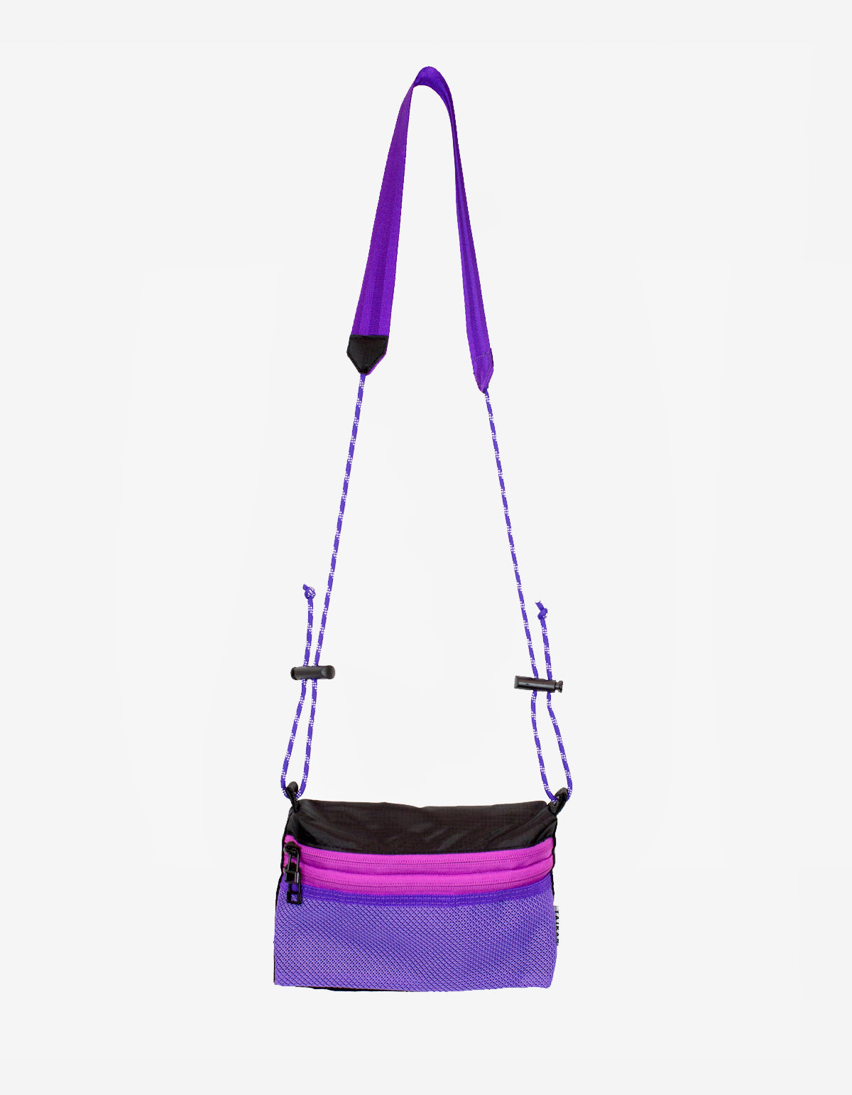 Taikan Small Sacoche Bag Black Purple Pink
