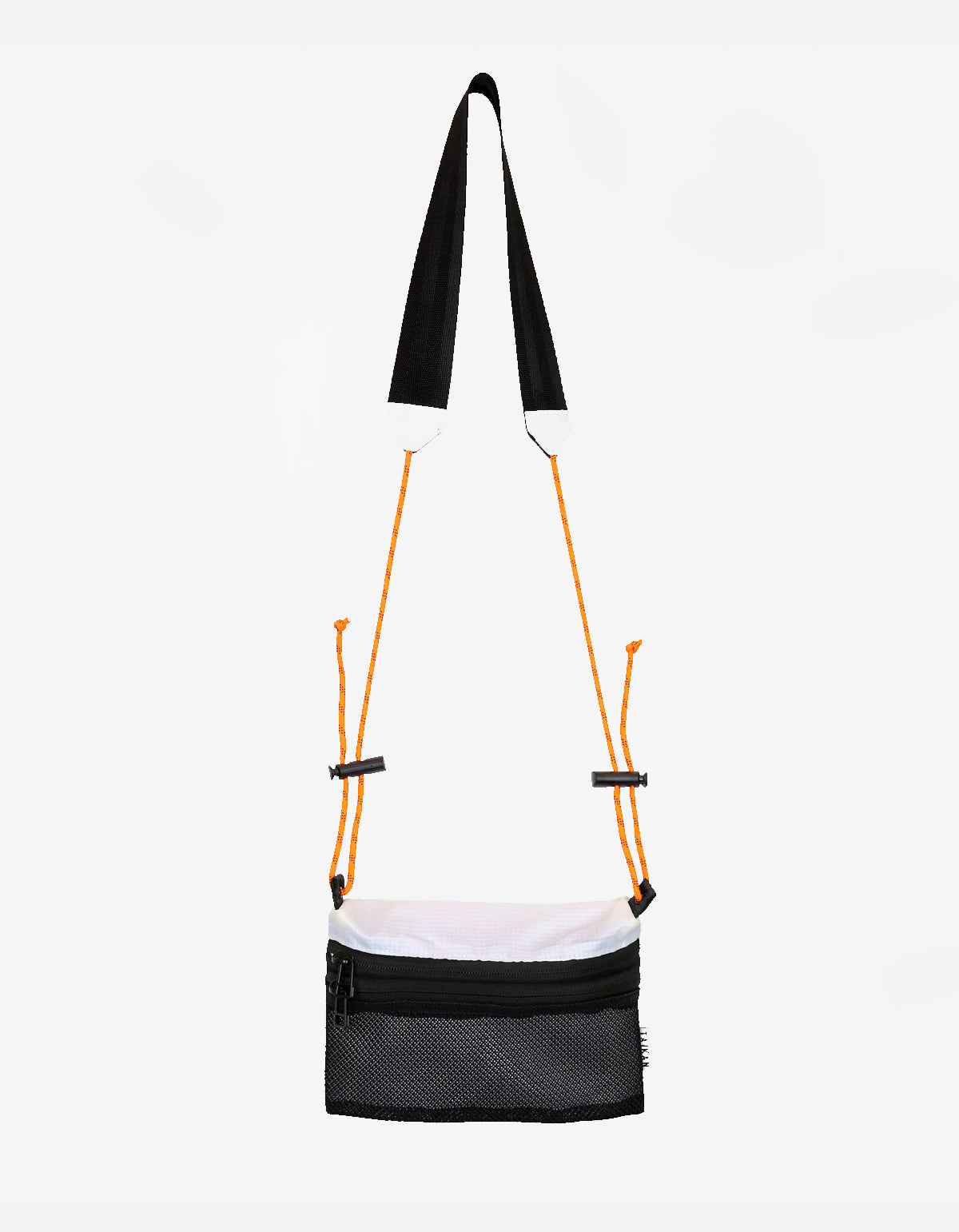 Taikan Small Sacoche Bag White Black Orange