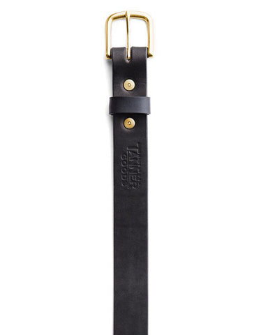 Tanner Goods Classic Belt Black Brass - Still Life - 2
