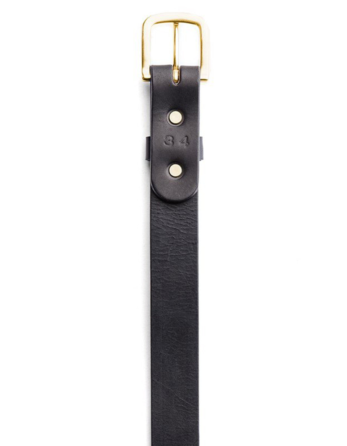 Tanner Goods Classic Belt Black Brass - Still Life - 3