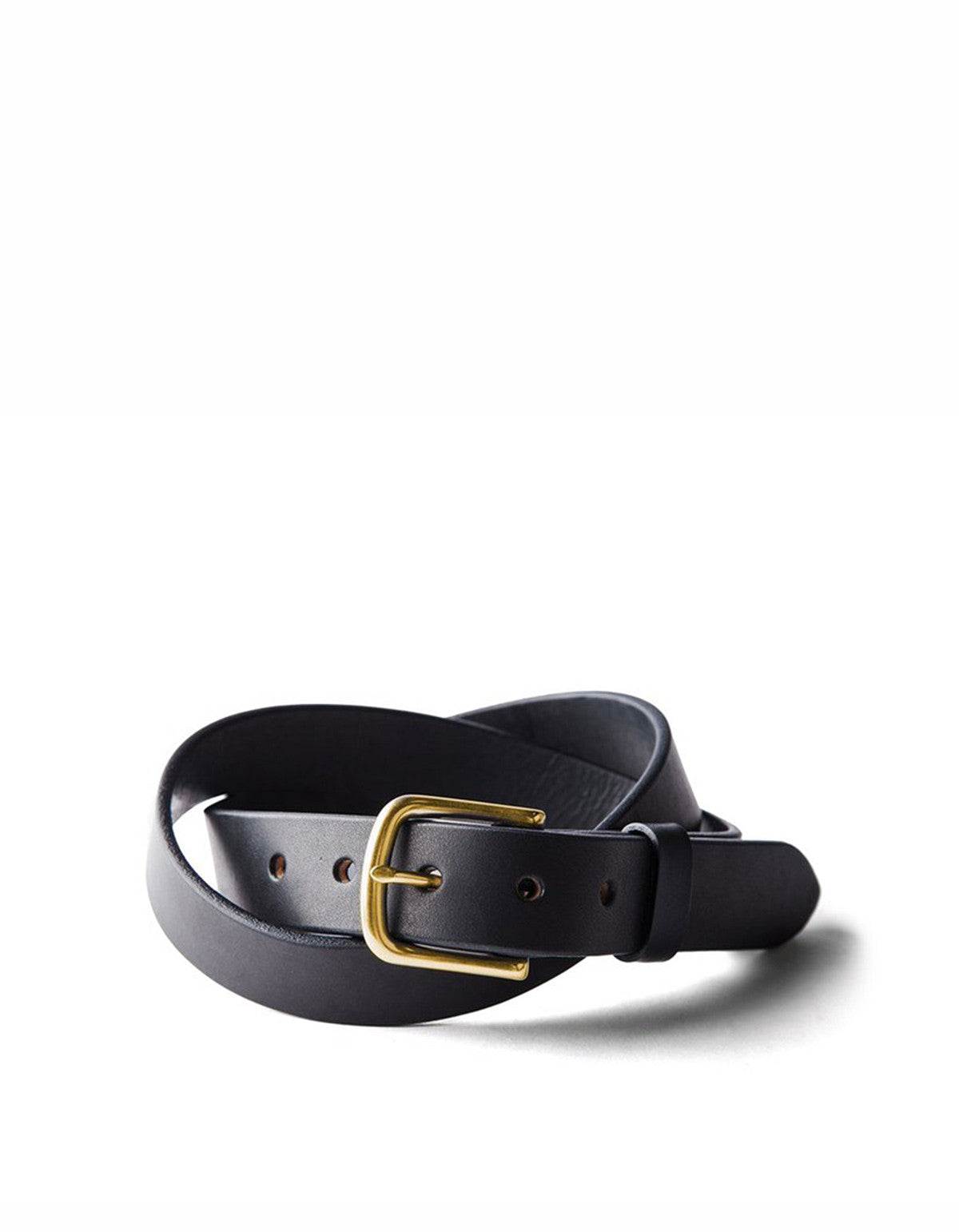 Tanner Goods Classic Belt Black Brass - Still Life - 1