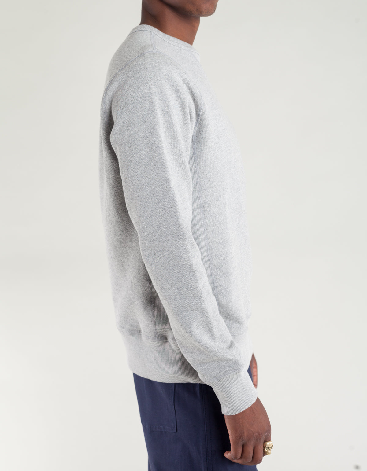 Tellason Heavyweight Crew Neck Sweatshirt Heather Grey