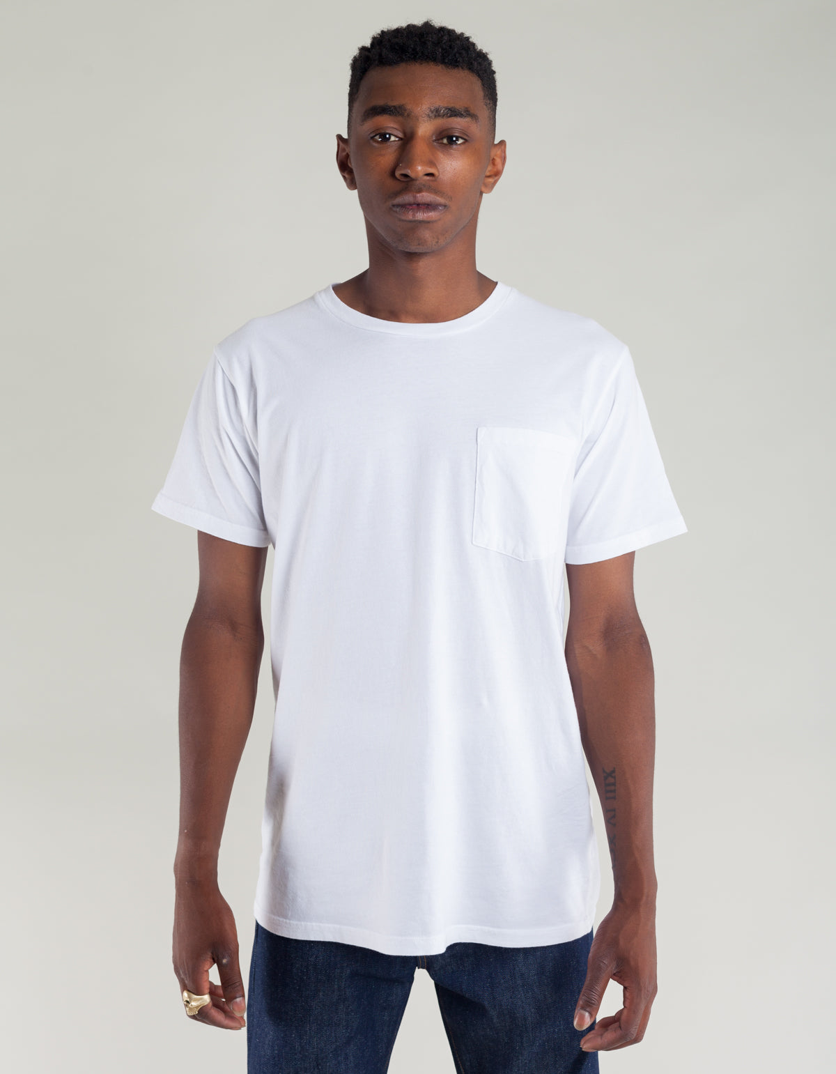 Tellason Pocket Tee White