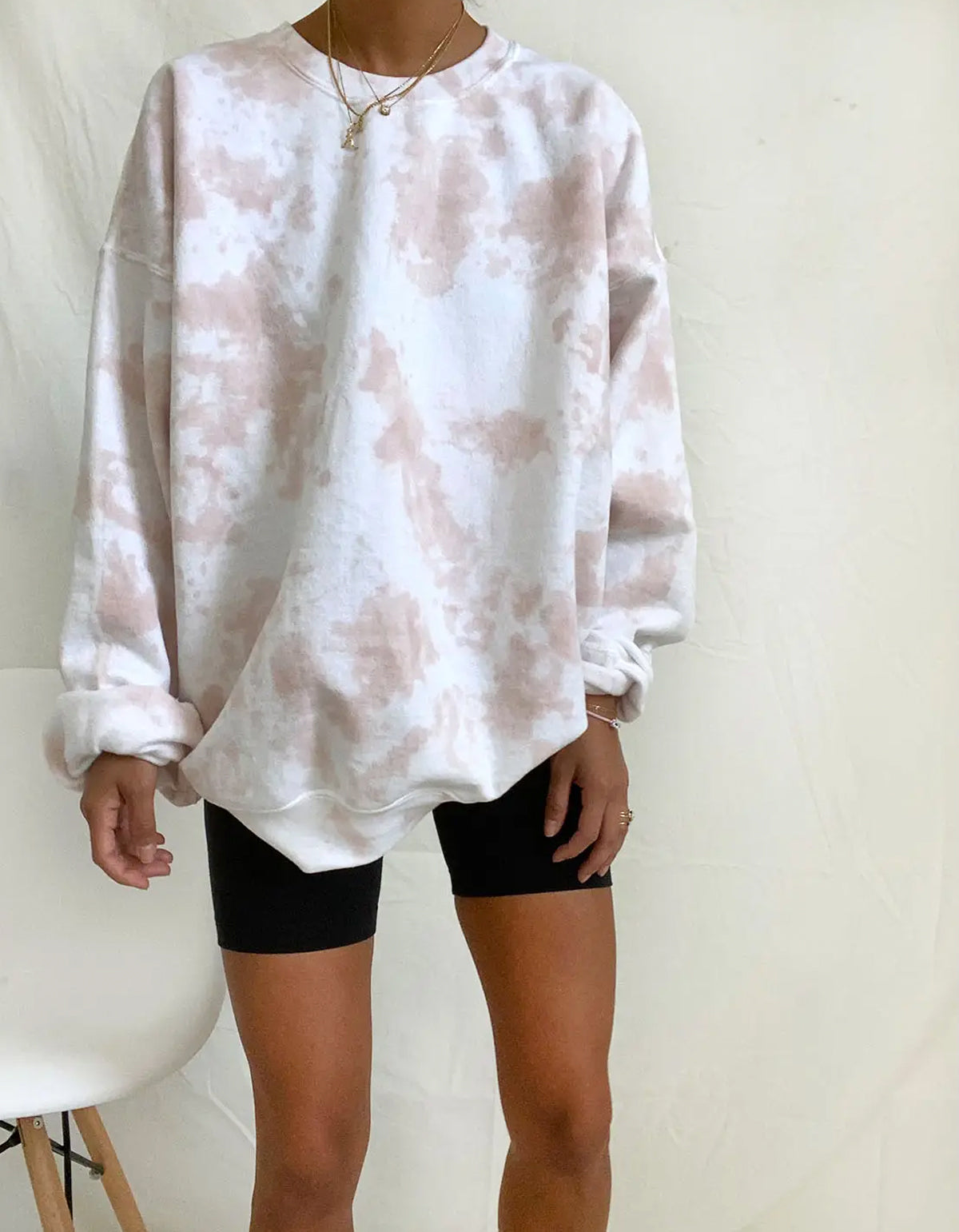 The Things Between Tie Dye Crewneck Sweatshirt Camel