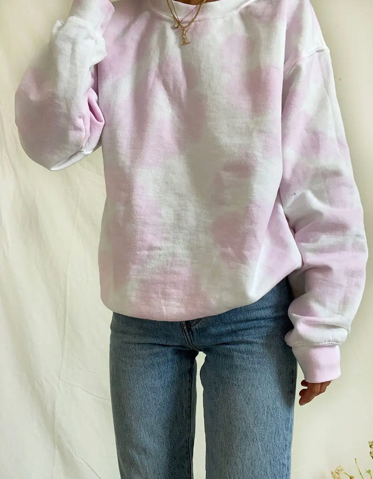 The Things Between Tie Dye Crewneck Sweatshirt Cotton Candy