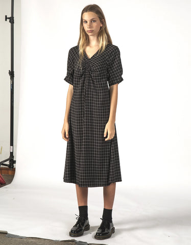 Thing Thing Flurry Dress Black Grid