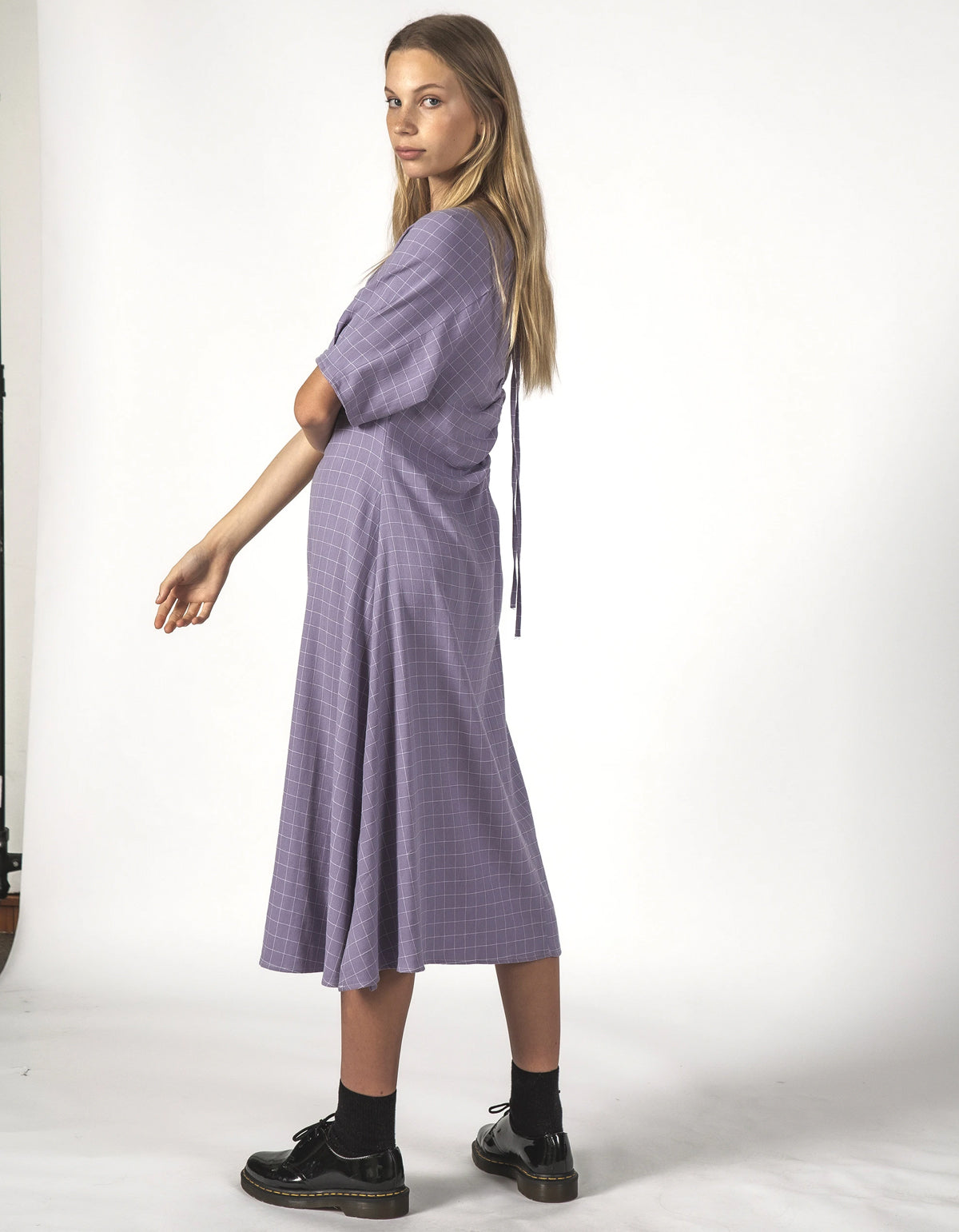 Thing Thing Flurry Dress Lavender Grid