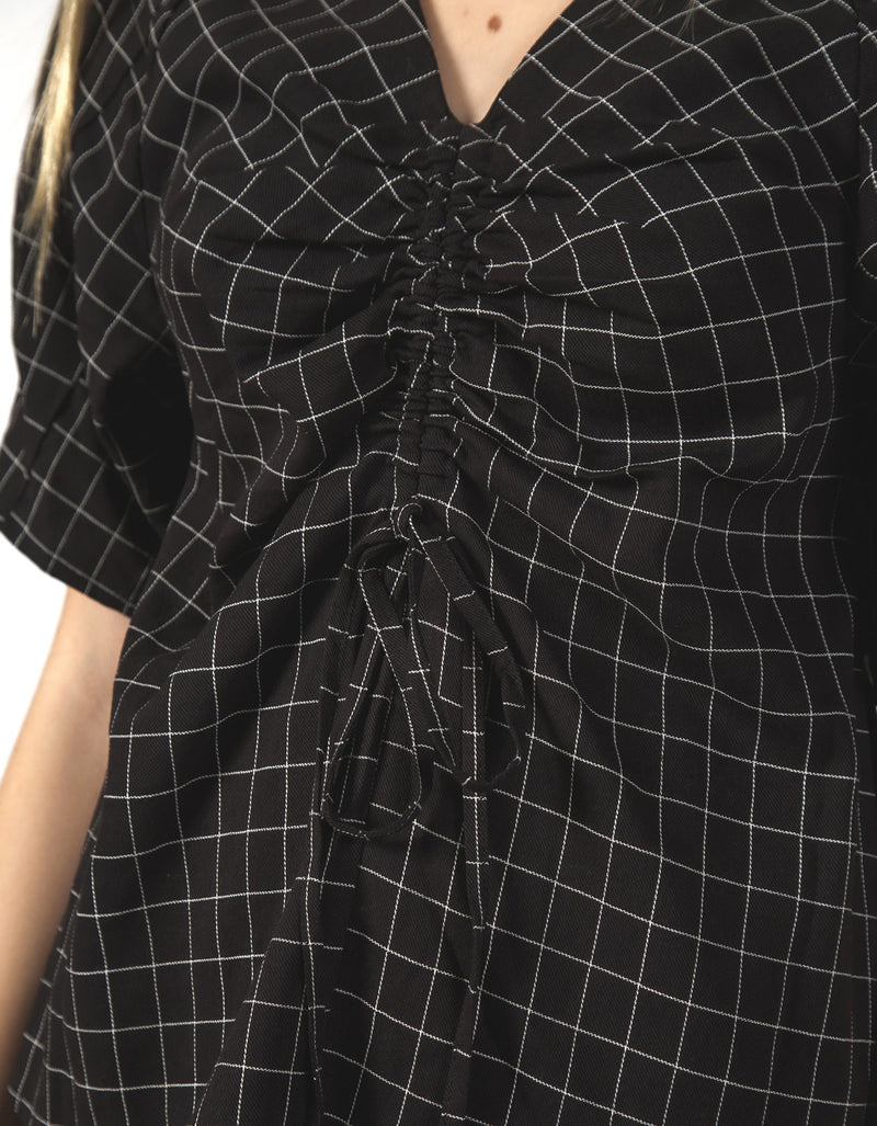 Thing Thing Fluster Top Black Grid