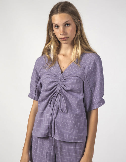 Thing Thing Fluster Top Lavender Grid