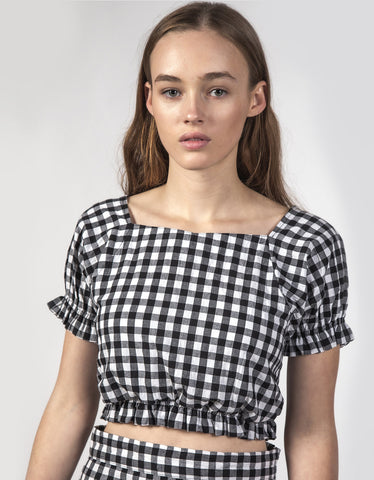 Thing Thing Nico Top Black Gingham
