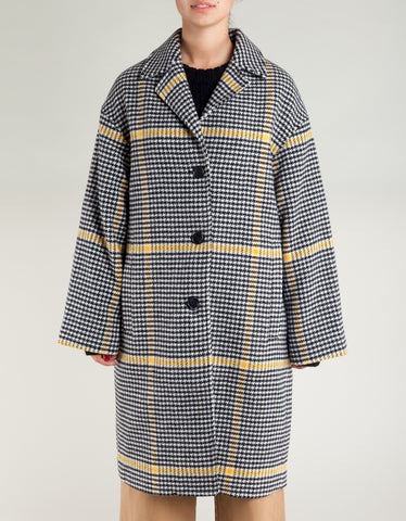 Tiger of Sweden Garland Coat Check Pattern