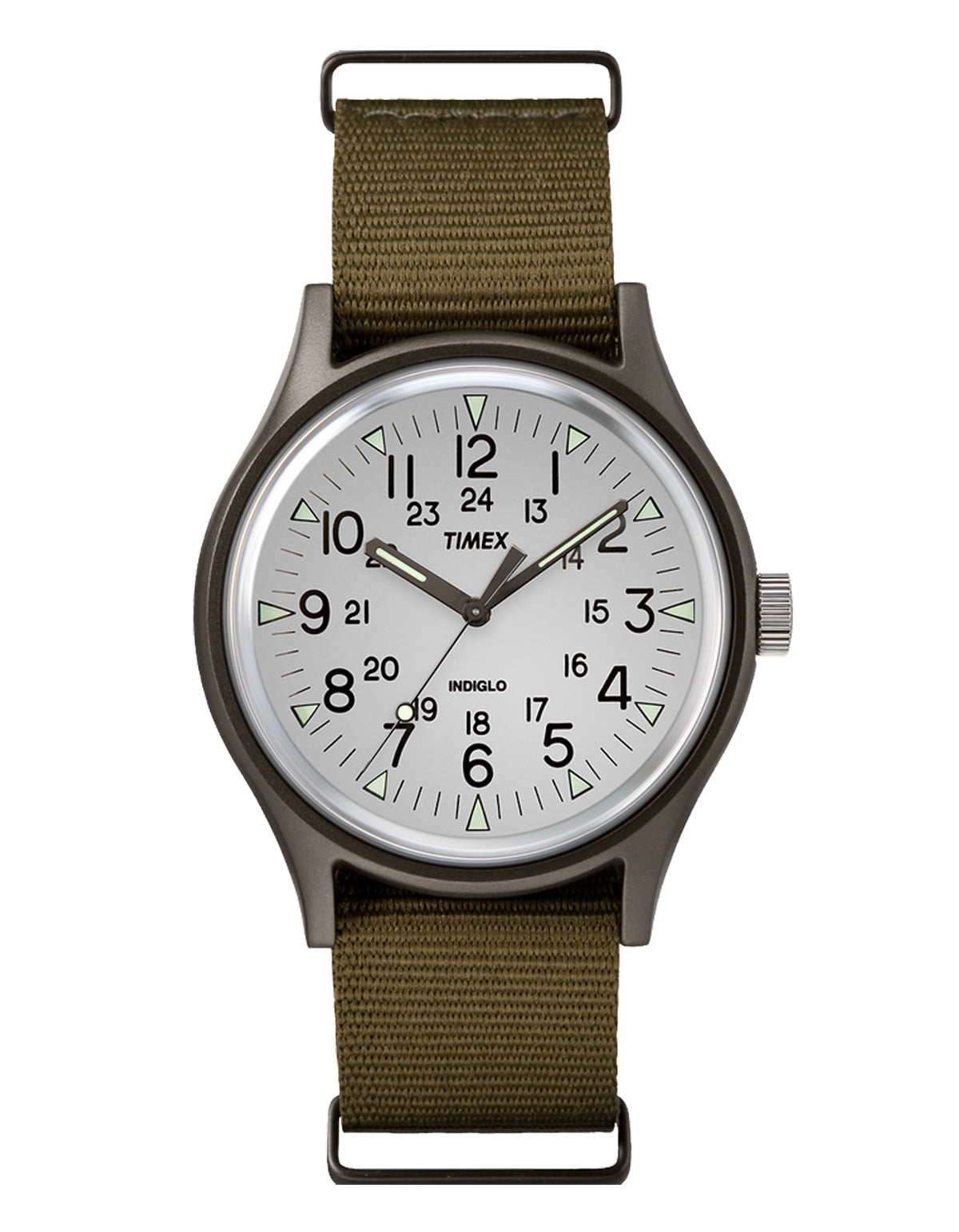 Timex Allied MK1 Aluminum Watch White Brown Olive