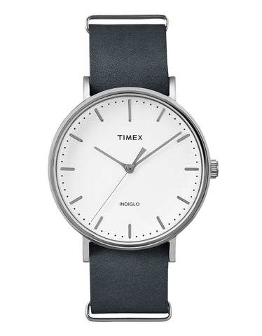 Timex The Fairfield Watch Chrome Gray White